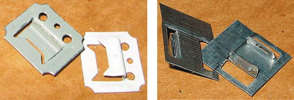 Клямеры и клипсы (изготавливаются с различной высотой зева, соответствующей толщине панелей)
