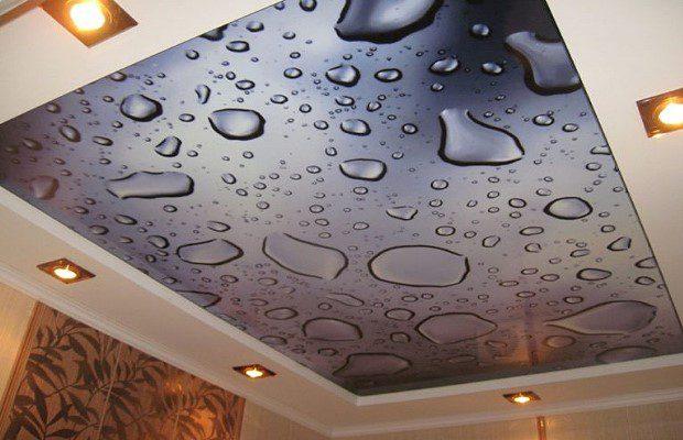 Натяжной потолок с фото