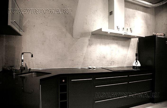 Декоративная штукатурка для внутренней отделки стен кухни