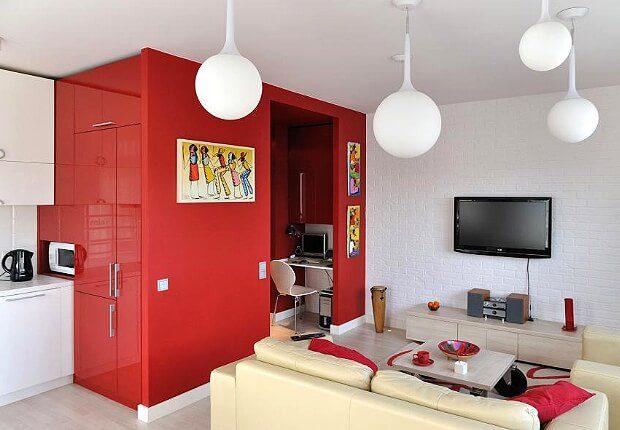 Небольшая кухня гостиная