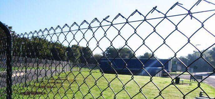 Забор из сетки рабицы с тросом