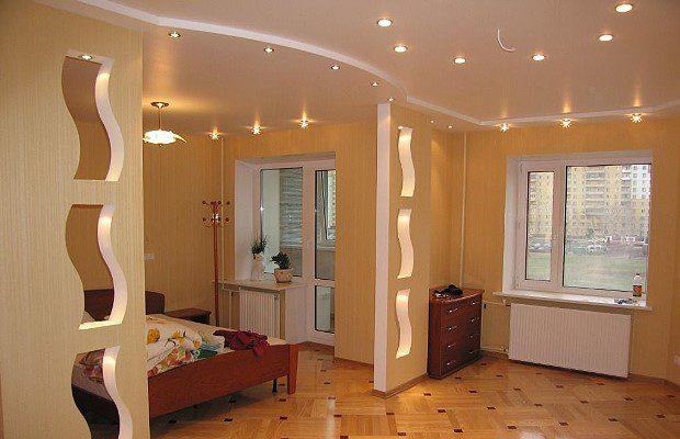 Гипсокартон в дизайне современной квартиры