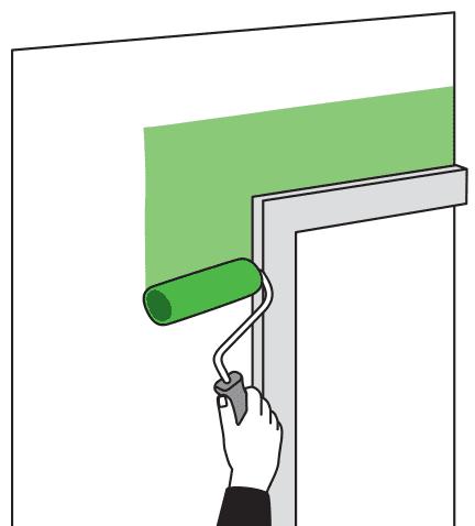 Как красить стены вокруг окна
