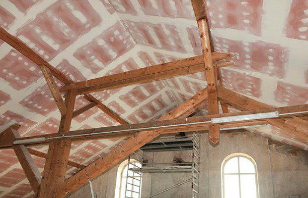 Отделка внутренней поверхности крыши не горючим материалом