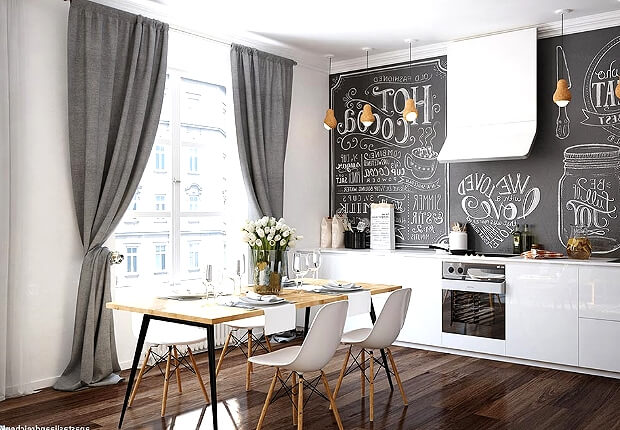 Кухня гостиная современный дизайн