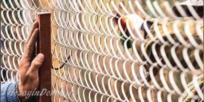 Как натянуть заборную сетку