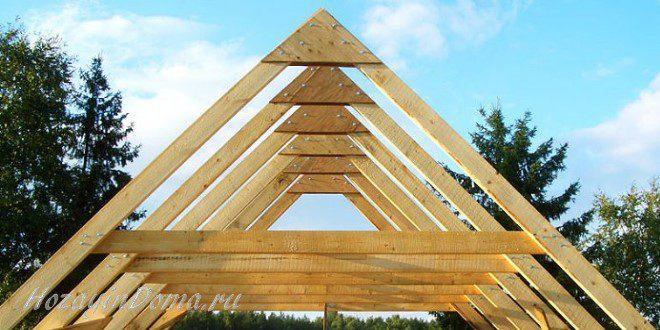 Построить двускатную крышу на дом или баню