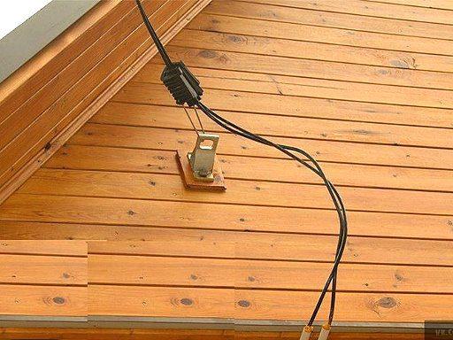 Подключение электричества по воздушной линии