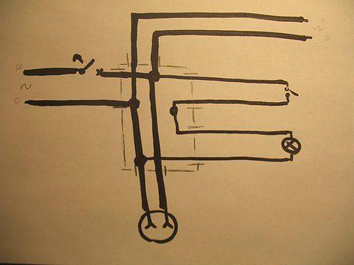 Простая схема проводки