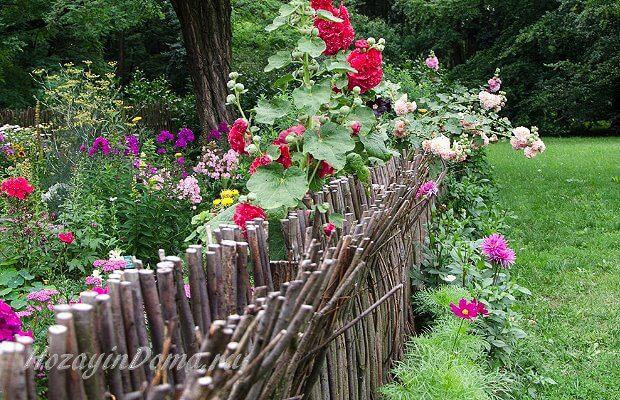 плетень дизайн деревенского сада