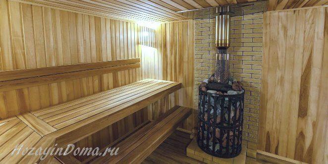 внутренняя отделка парной бани