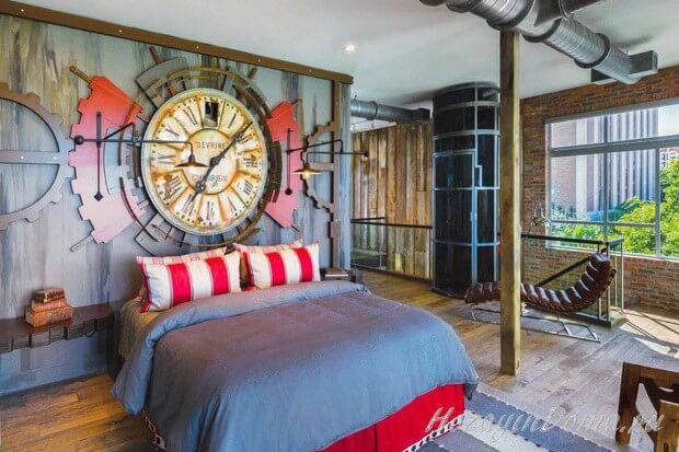 Спальня в стимпанк стиле
