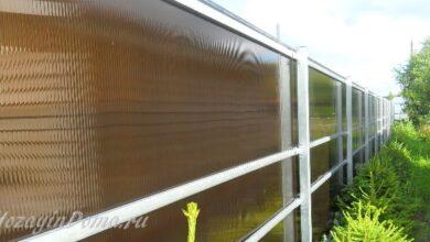 Photo of Заборы для дачи из поликарбоната: установка и преимущества