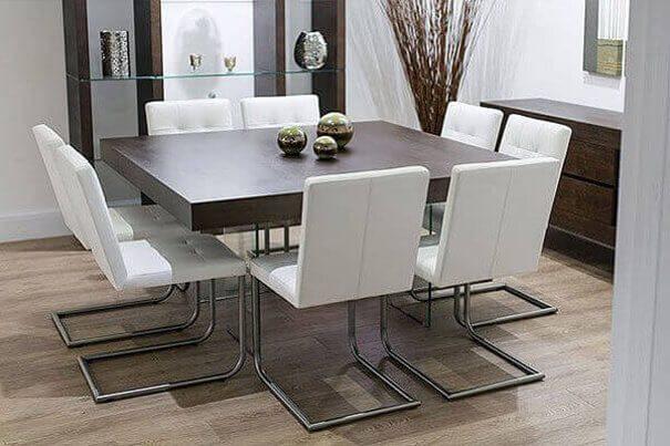 Обеденный стол квадратной формы-2